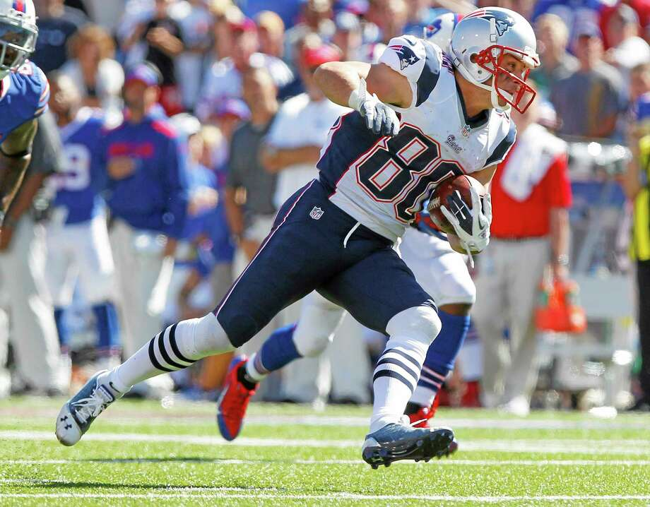 Wide receiver Danny Amendola (80) is just one of the Patriots players who may not play against the Jets on Thursday night. Photo: Bill Wippert — The Associated Press  / FR170745 AP