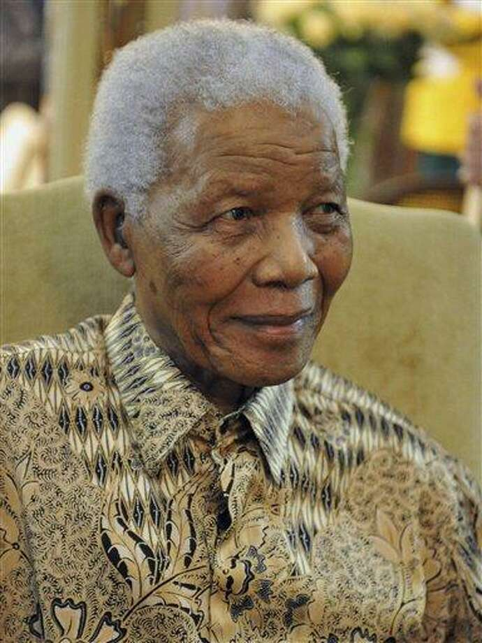 Former South African President Nelson Mandela. Associated Press file photo Photo: AP / AP2011