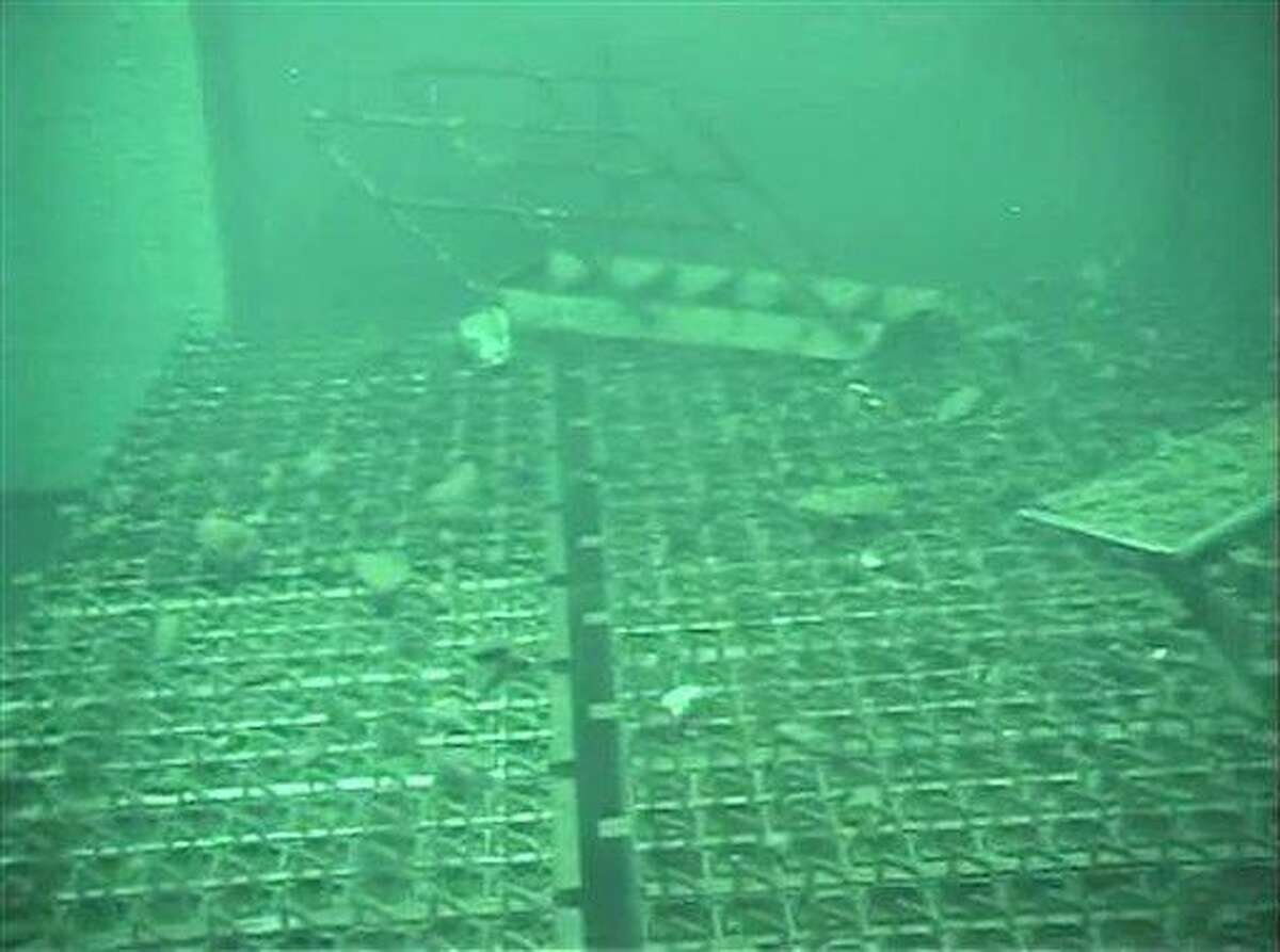 This May 7, 2011 file image released by Tokyo Electric Power Co. (TEPCO) shows spent fuel storage pool of the Unit 4 reactor building at the crippled Fukushima Dai-ichi nuclear power plant reactor buildings. AP Photo/Tokyo Electric Power Co
