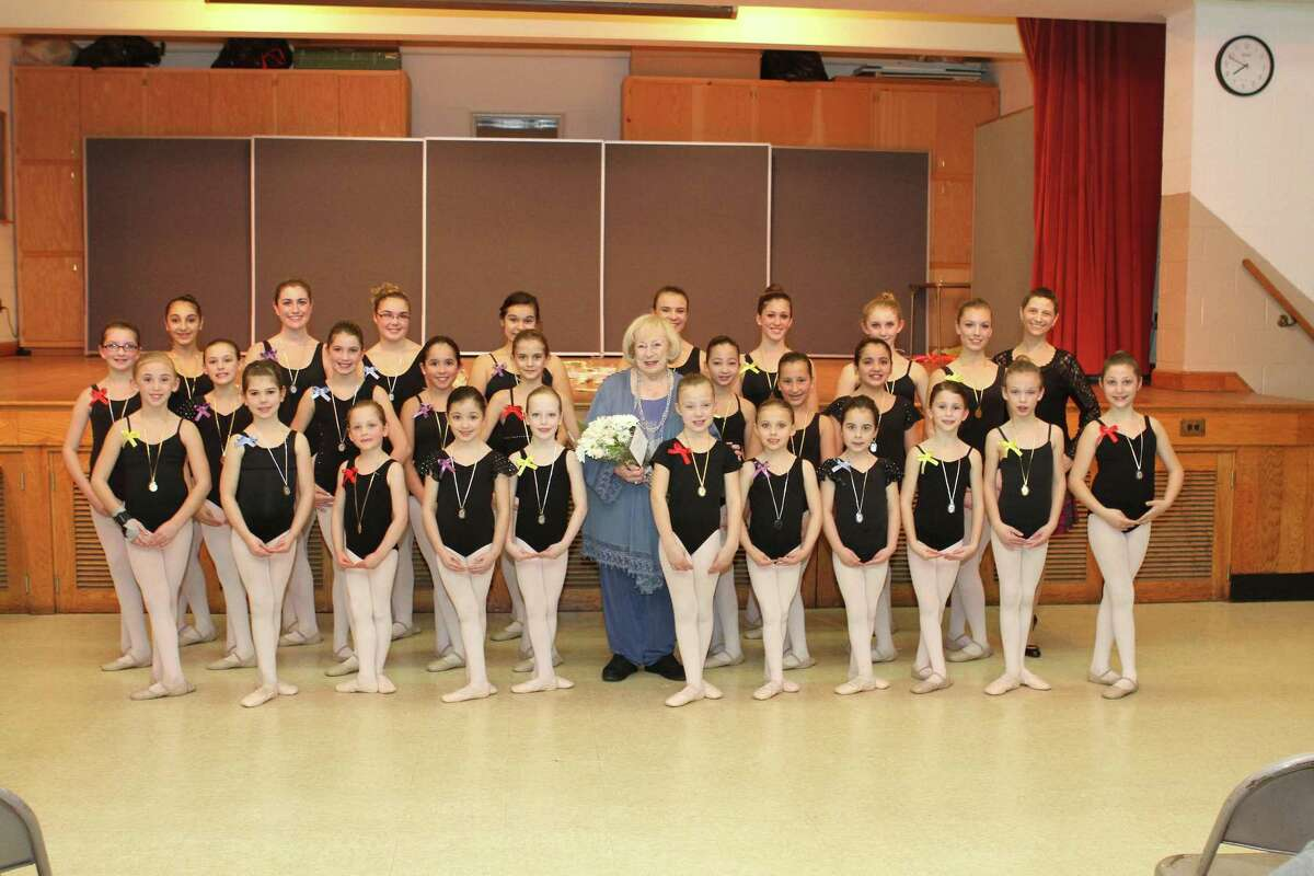 Submitted photo Twenty-seven dancers from the Middlesex Dancer Center in Middlefield are pictured with Mignon Furman (center) and MDC Director Toni-Lynn Miles (back right).