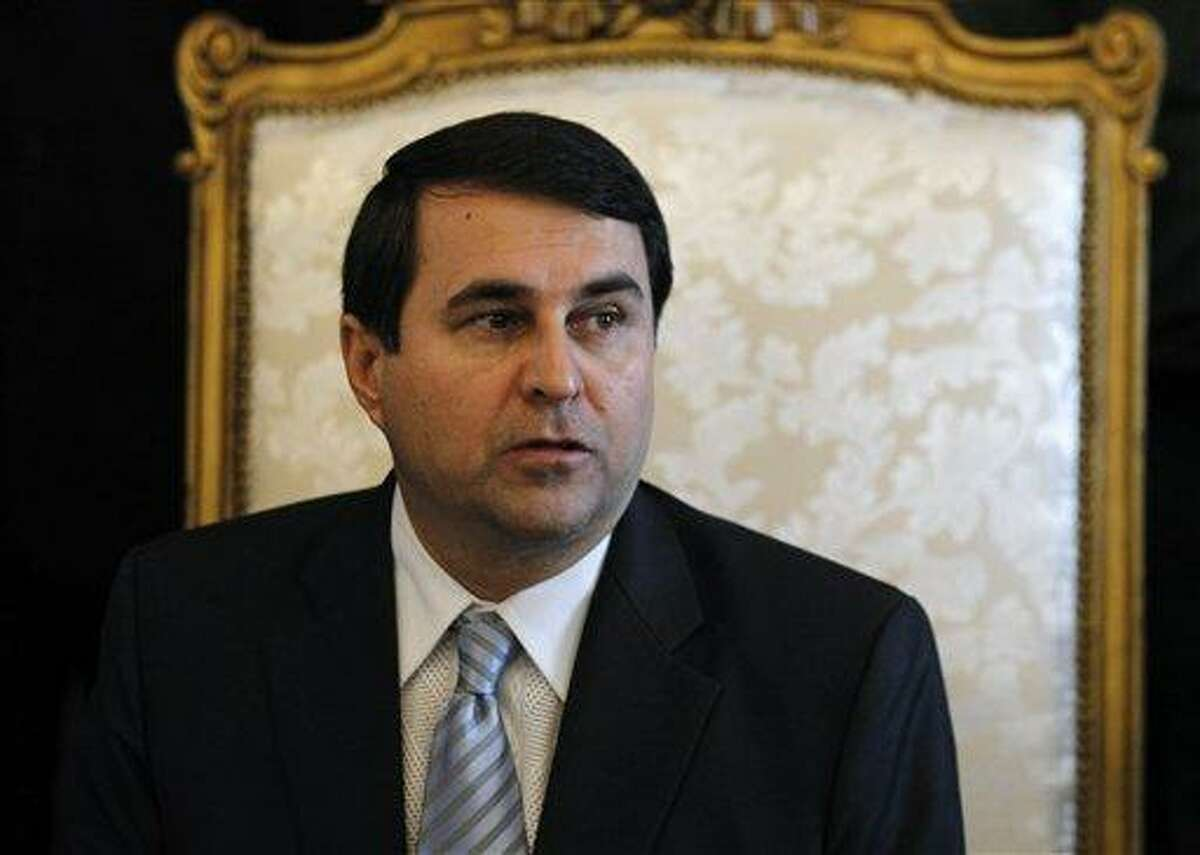 Paraguay's new President Federico Franco gives a news conference at the presidential palace in Asuncion, Paraguay, Saturday. Former President Fernando Lugo's ouster by lawmakers on Friday has been widely condemned in Latin America as Franco is promising to honor foreign commitments and reach out to Latin American leaders to try to keep his country from becoming a regional pariah. Associated Press
