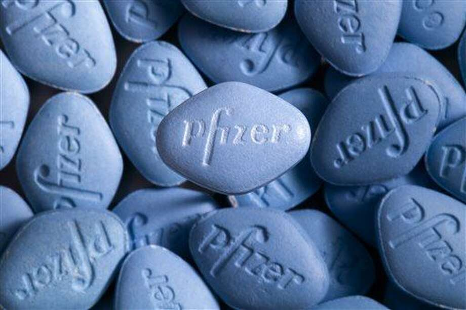 This undated photo provided by pfizer shows Viagra pills. In a first for the drug industry, Pfizer Inc. told The Associated Press on May 6, 2013, that it will sell erectile dysfunction pill Viagra directly to patients on its website. (AP Photo/pfizer, William Vazquez) Photo: AP / pfizer