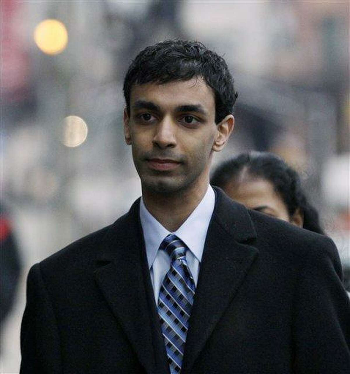 Former Rutgers University student, Dharun Ravi, arrives for the opening arguments at his trial in New Brunswick, N.J., Friday, Feb. 24, 2012. A prosecutor and defense lawyer will make their initial pitches to jurors Friday. Associated Press