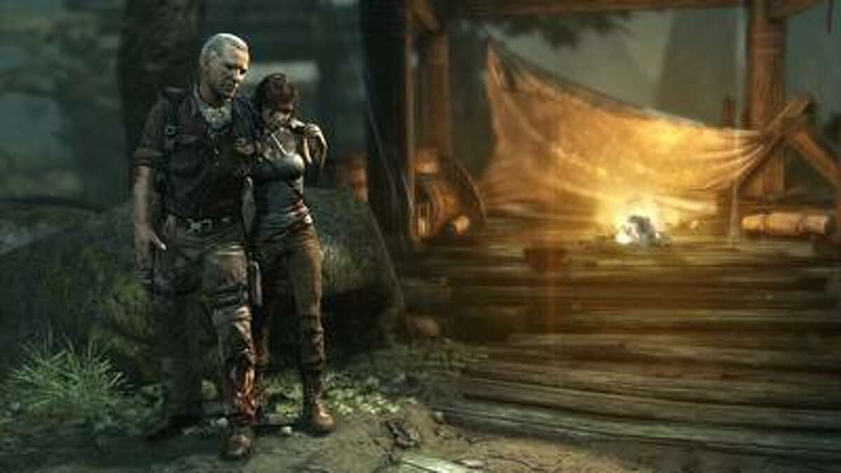 """In the """"Tomb Raider"""" reboot, Lara Croft has to rescue her fellow crewmates such as Conrad Roth, left, her mentor. (Square Enix)"""