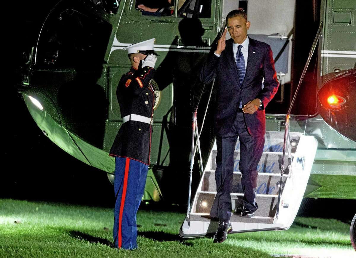 President Barack arrives on the South Lawn of the White House on Friday, Sept. 6, 2013 in Washington.allies and the U.S. Congress. AP Photo/Evan Vucci