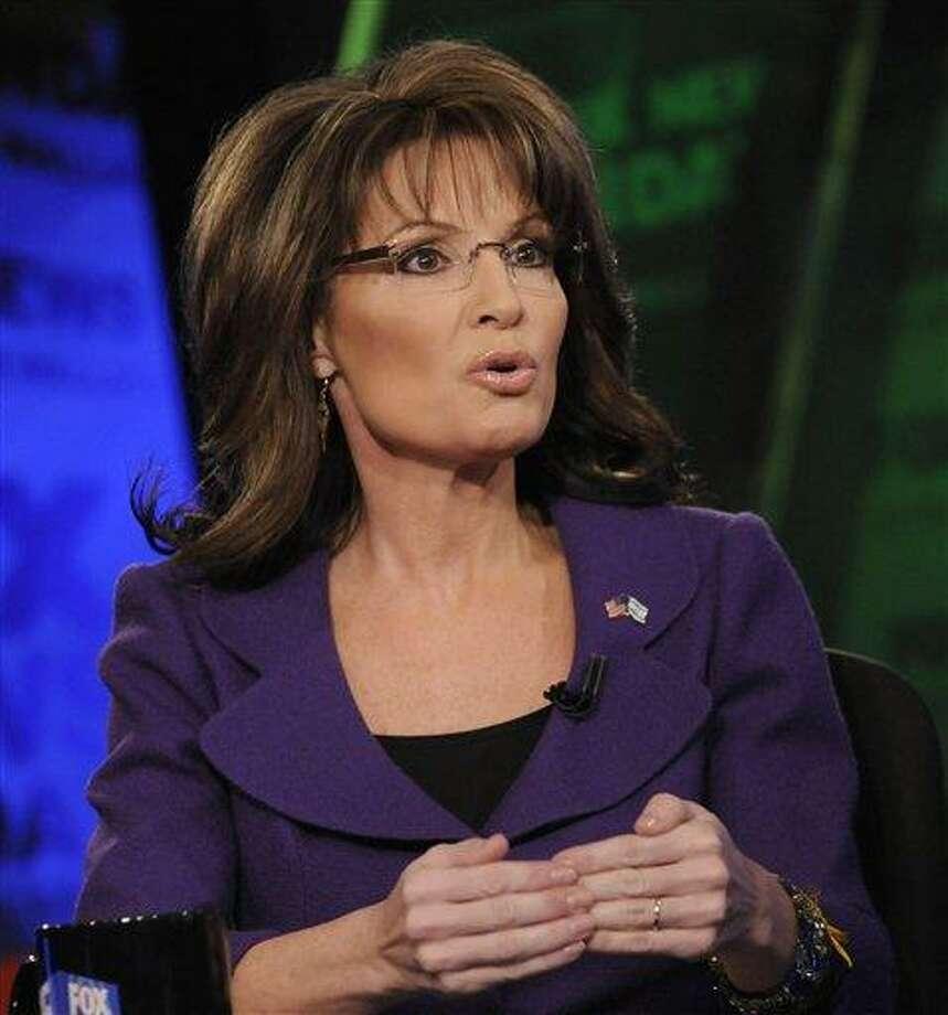 In this photo released by FOX News, former Alaska Gov. Sarah Palin talks on FOX News Sunday in Washington  Feb. 12.  Associated Press Photo: AP / FOX News