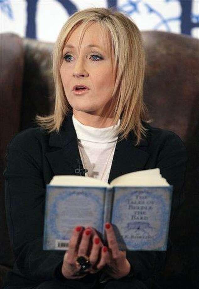 J.K. Rowling. Associated Press file photo Photo: AP / POOL PA