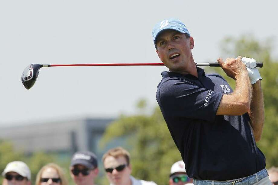 ASSOCIATED PRESS Matt Kuchar follows through during his tee shot on the 16th hole during the final round of the PGA Byron Nelson Championship golf tournamen on May 20 in Irving, Texas. Kuchar won the Players Championship earlier this year and could be a threat to win the Travelers Championship.