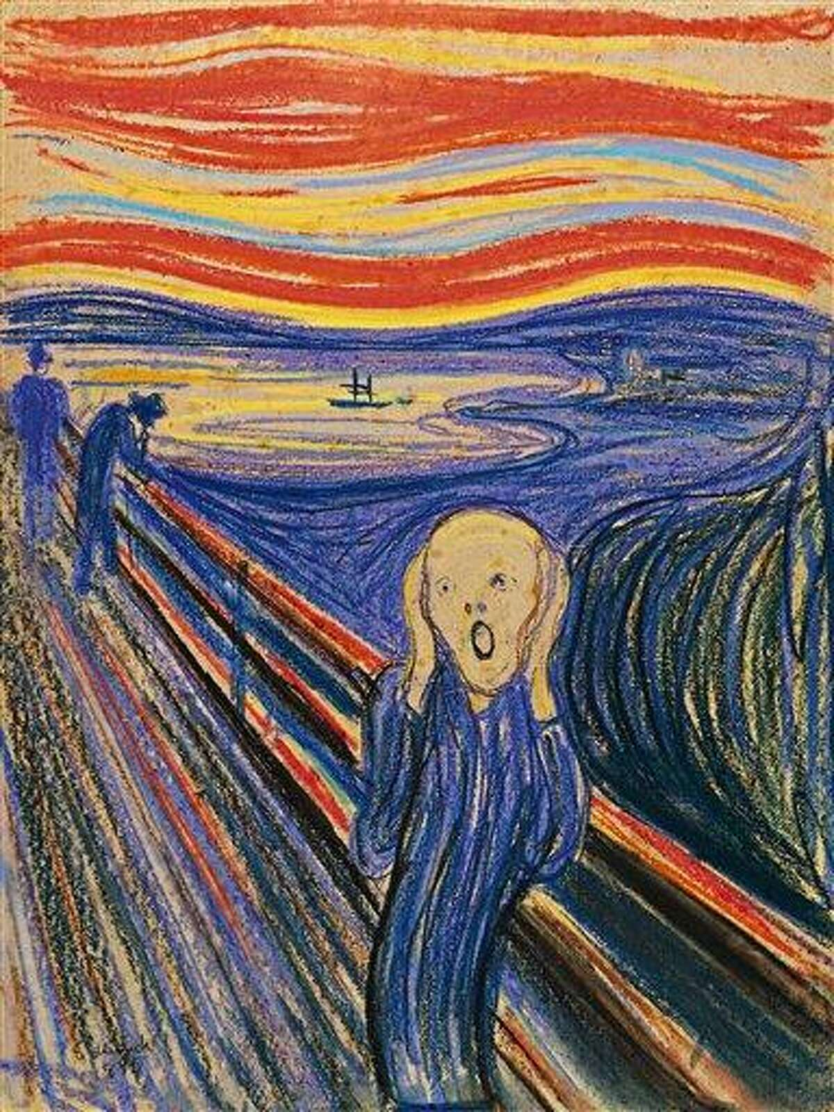 """This photo provided by Sotheby's shows """"The Scream"""" by Norwegian painter Edvard Munch. The work, which dates from 1895 and is one of four versions of the composition, will lead Sotheby's Impressionist & Modern Art Evening Sale in New York on May 2. Associated Press"""