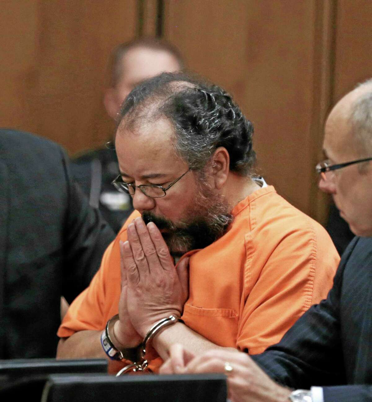 This Aug. 1, 2013 file photo shows Ariel Castro in the courtroom during the sentencing phase in Cleveland. AP Photo/Tony Dejak