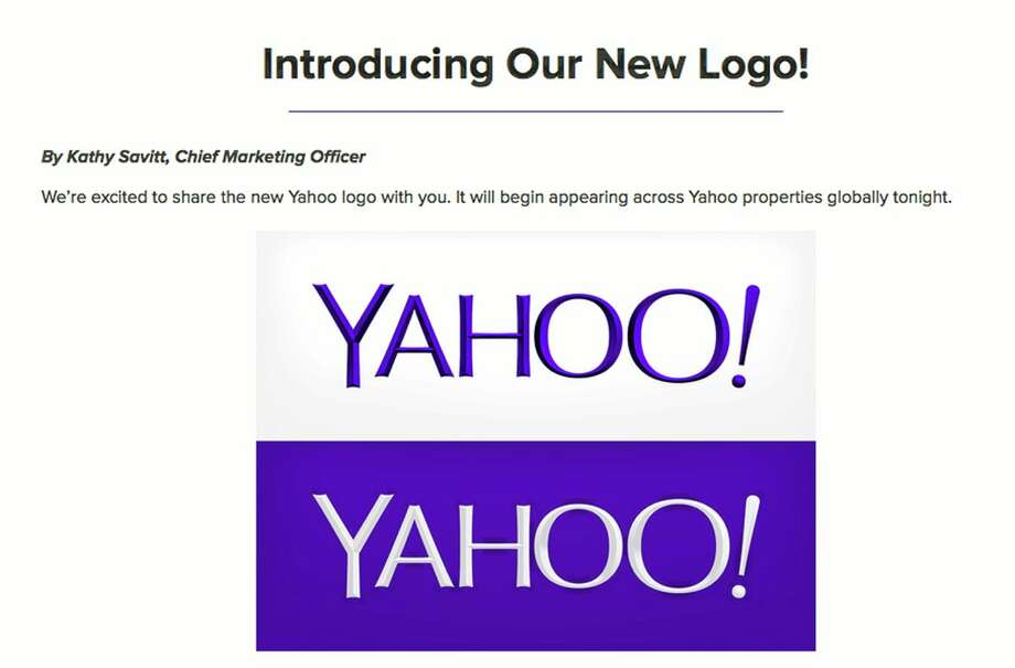 Yahoo's new logo was presented on Wednesday.  (AP Photo/Yahoo Inc.) Photo: AP / Yahoo!