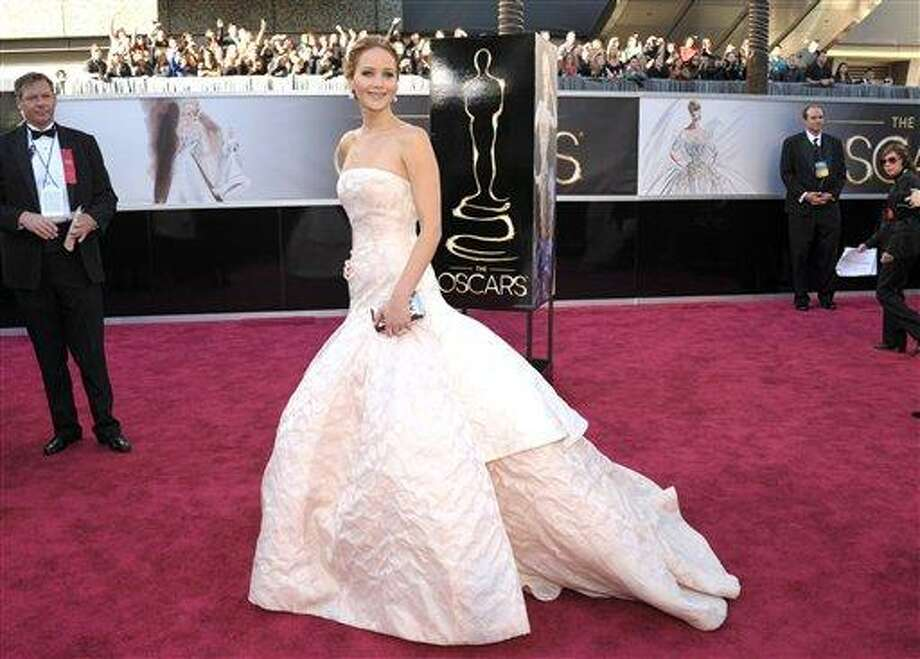 Actress Jennifer Lawrence arrives at the 85th Academy Awards at the Dolby Theatre on Sunday Feb. 24, 2013, in Los Angeles. (Photo by John Shearer/Invision/AP) Photo: John Shearer/Invision/AP / Invision