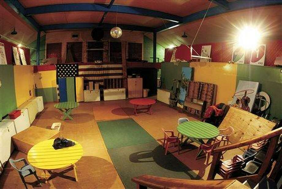 This Feb. 11, 2009 photo shows the recreation room of the former school and Quonset hut near Atalissa, Iowa that housed mentally disabled men while they worked at West Liberty Foods until the state of Iowa closed down the facility in 2009. A jury on Wednesday, May 1, 2013 awarded $240 million to 32 mentally disabled men for what government lawyers say was years of abuse by a now-defunct Texas company that arranged for them to work at an Iowa turkey processing plant and oversaw their care, work and lodging. (AP Photo/The Quad City Times, John Schultz) MANDATORY CREDIT: THE QUAD CITY TIMES, JOHN SCHULTZ Photo: AP / Quad-City Times
