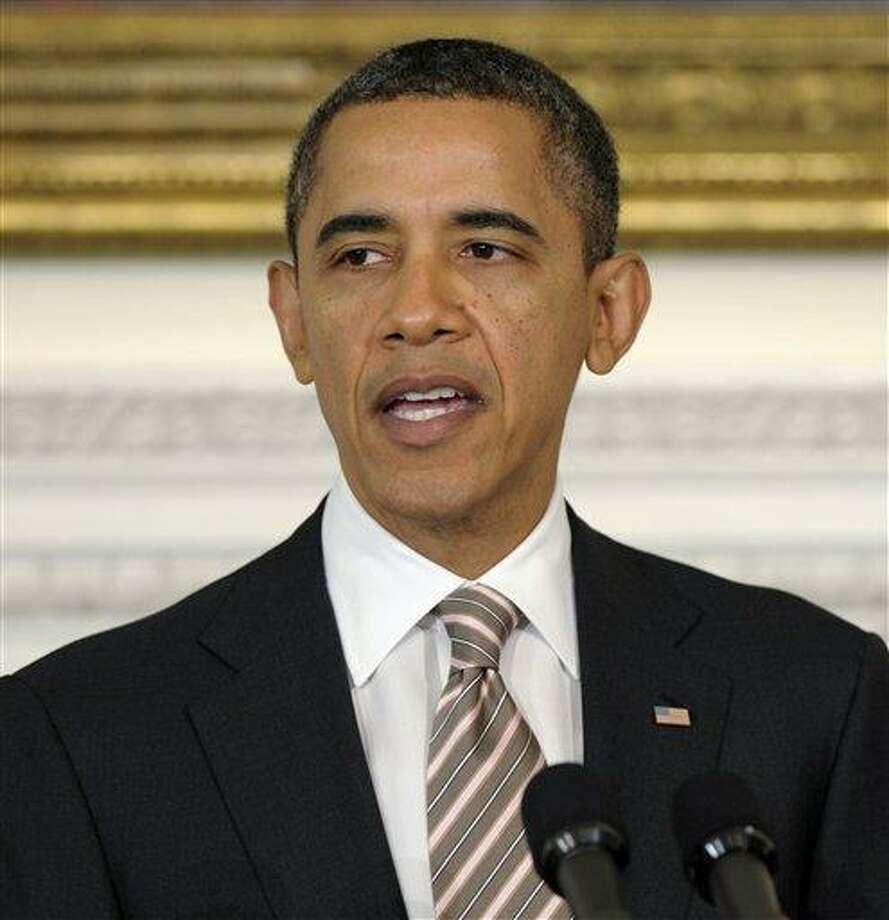 Obama Associated Press Photo: ASSOCIATED PRESS / AP2012