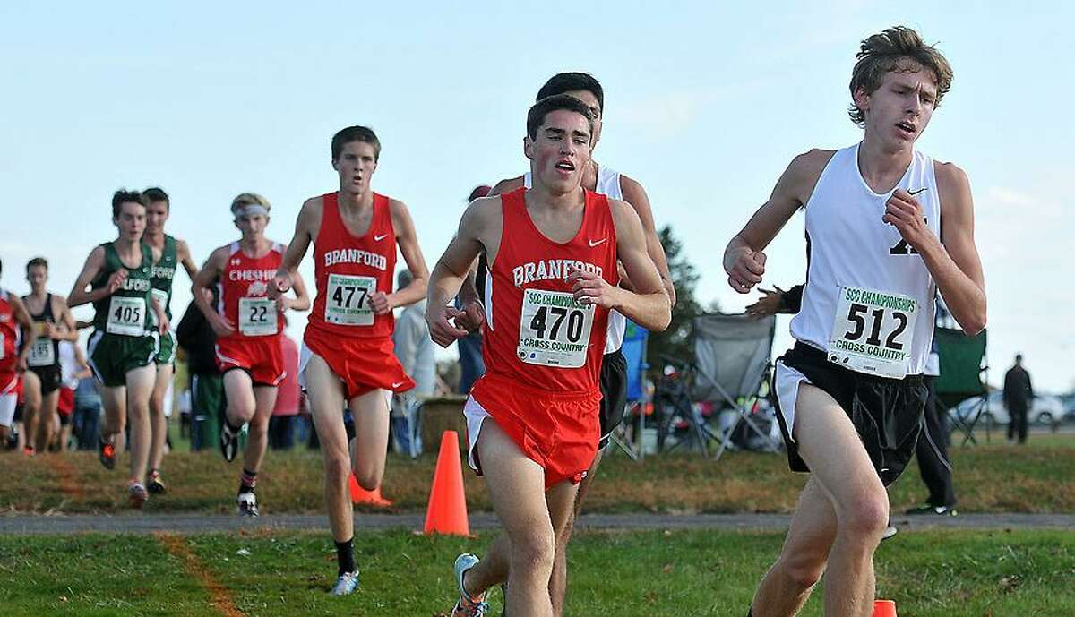Madison-- The Varsity SCC Cross Country Championships. Photo by Peter Casolino/New Haven Register 10/18/12