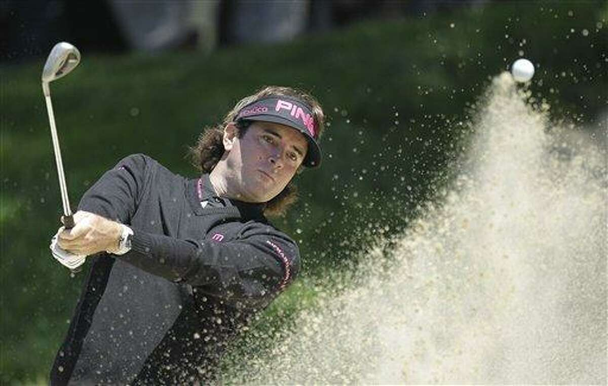 Bubba Watson hits out of a bunker on the second hole during the second round of the U.S. Open Championship golf tournament Friday, June 15, 2012, at The Olympic Club in San Francisco. (AP Photo/Ben Margot)