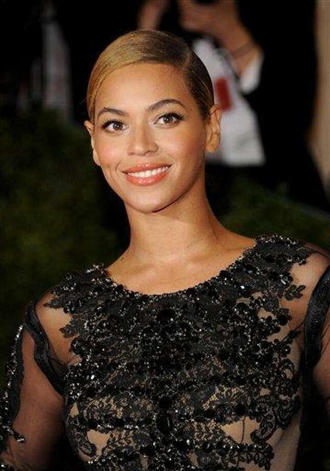 Beyonce Knowles at the Metropolitan Museum of Art Costume Institute gala benefit, celebrating Elsa Schiaparelli and Miuccia Prada in New York. AP Photo Photo: AP / AGOEV