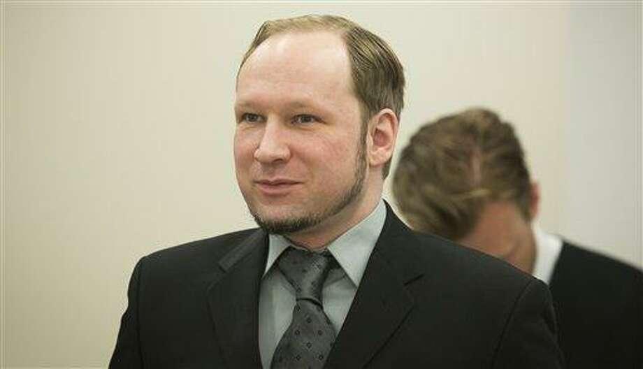 Anders Behring Breivik in the courtroom in Oslo May 31. Associated Press Photo: AP / POOL NTB scanpix