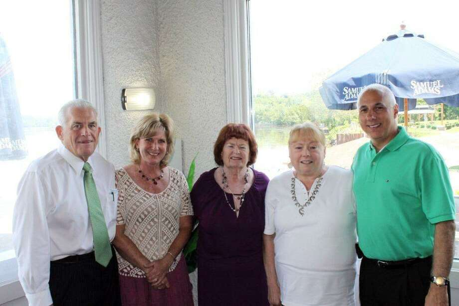 (Left to Right): Larry McHugh, President, Middlesex County Chamber of Commerce, Diane Sayers, Willam Raveis Real Estate, Mary Ellen Klinck, Century 21-Root Agency, Marilyn Phillips, Sterling Realtors, and David Gallitto, Sterling Realtors.