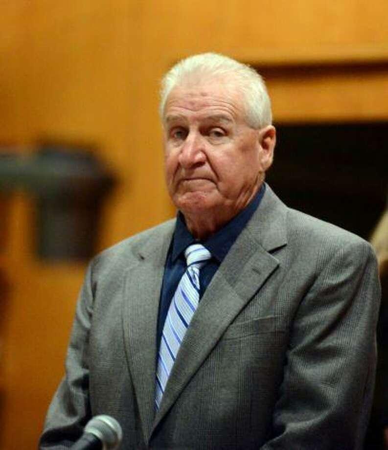 Dominic Badaracco in Bridgeport Superior Court. (Autumn Driscoll - Connecticut Post, Pool)