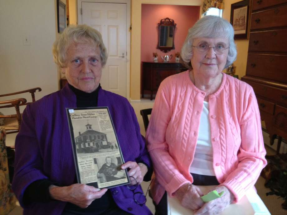 Ann Hinman Lilly and Dorothy Wargo recounted family stories about the time when Southbury said no to the Nazis. Photo courtesy of filmmaker Scott Sniffen