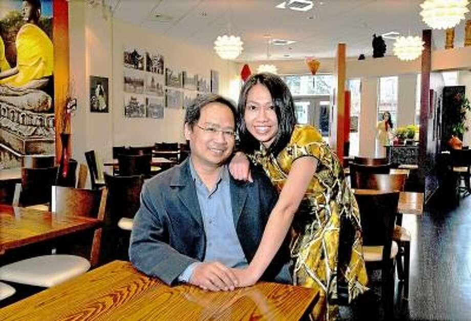 Catherine Avalone/The Middletown Press Middletown resident Chu Ngo and her husband, Lam Nguyen, co-owners of Lan Chi's Vietnamese Restaurant at 505 Main St. in Middletown, will open Monday, Feb. 25, at 5 p.m. for dinner. Nguyen, an aerospace engineer at Pratt & Whitney, and Ngo, recently resigned as a pharmaceutical research scientist at Bristol-Meyers Squibb to run the restaurant. It will serve traditional Vietnamese cuisine such as spring rolls, lemon grass beef, crepes and pho, the famous beef noodle soup. Lan Chi's will be open for dinner only during the first week. Then hours will be Sunday through Wednesday from 11:30 a.m. to 9:30 p.m. and Thursday through Saturday from 11:30 a.m. to 10:30 p.m. / TheMiddletownPress