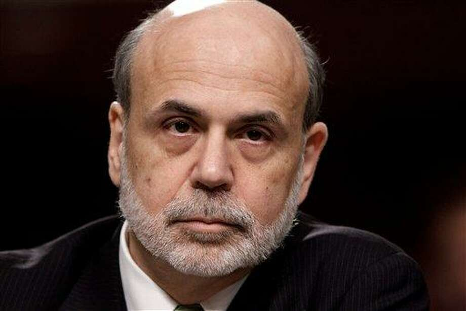 Federal Reserve Board Chairman Ben Bernanke testifies on Capitol Hill in Washington Thursday before the Joint Economic Committee about the health of nation's economy, the slumping recovery and the European debt crisis. Associated Press Photo: AP / AP