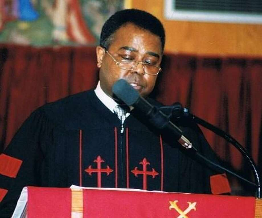 This January 2000 photo provided by the family of the late Cleveland Donald Jr., shows Donald speaking at a celebration honoring Martin Luther King Jr., in New Canaan, Conn. Donald the second black graduate of the University of Mississippi who started a black studies program at the college, has died. He was 65. (AP Photo/The Cleveland Donald Family)