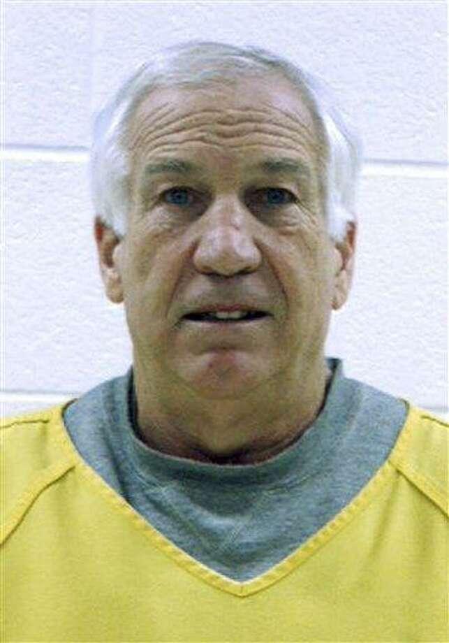 Sandusky at arraignment. Associated Press Photo: AP / Centre County Correctional Facility