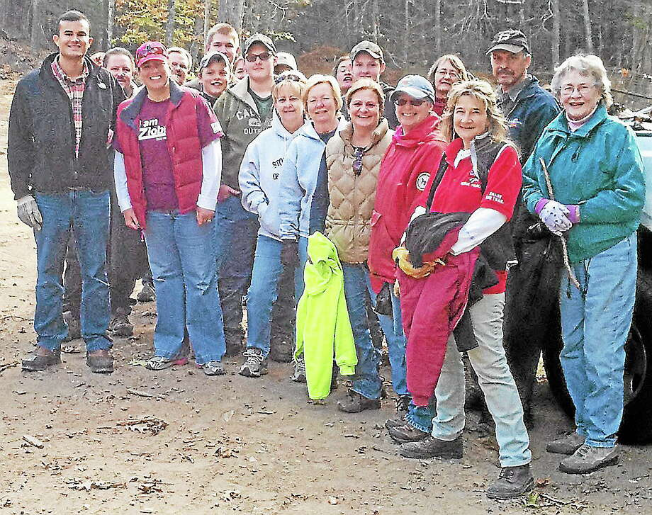 Local legislators and volunteers came together for a cleanup of Sunrise Resort in East Haddam Oct. 26. Photo: Submitted Photo