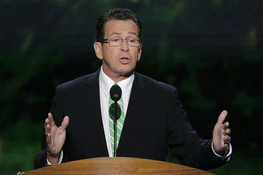 Connecticut Gov. Dannel Malloy addresses the Democratic National Convention in Charlotte, N.C., last month.  (AP Photo/J. Scott Applewhite) Photo: AP / AP