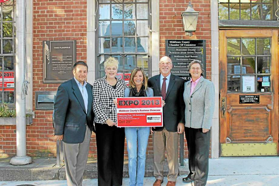 Left to right: Rich Carella, Chamber vice chairman, Pamela Luchka, Expo committee co-chair, Johanna Bond, Chamber vice president and Expo coordinator, Brian Armet, Expo committee co-chair, Darlene Briggs, Chamber chairwoman. Photo: Journal Register Co.