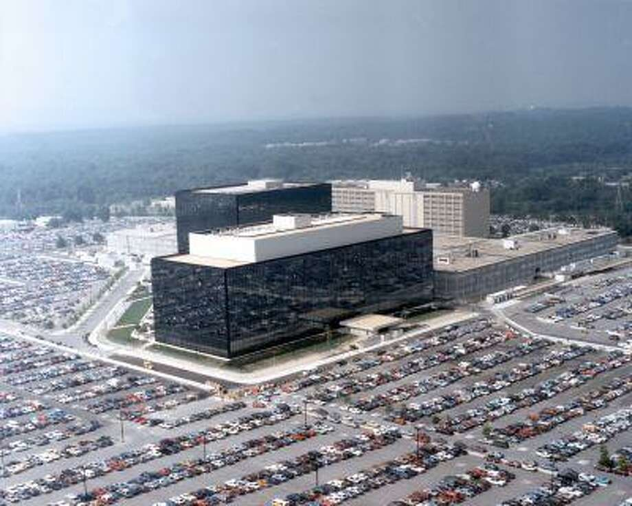 "This undated US government photo shows an aerial view of the National Security Agency (NSA) in Fort Meade, Md. The Obama administration on Thursday defended the National Security Agency's need to collect telephone records of U.S. citizens, calling such information ""a critical tool in protecting the nation from terrorist threats."" (AP Photo/US Government) Photo: AP / US Government"