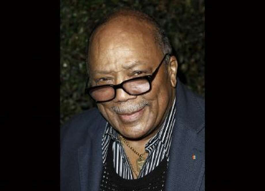 "Quincy Jones arrives at the world premiere of the music video for Paul McCartney's song, ""My Valentine"", in West Hollywood, Calif., in this April 13, 2012 file photo."