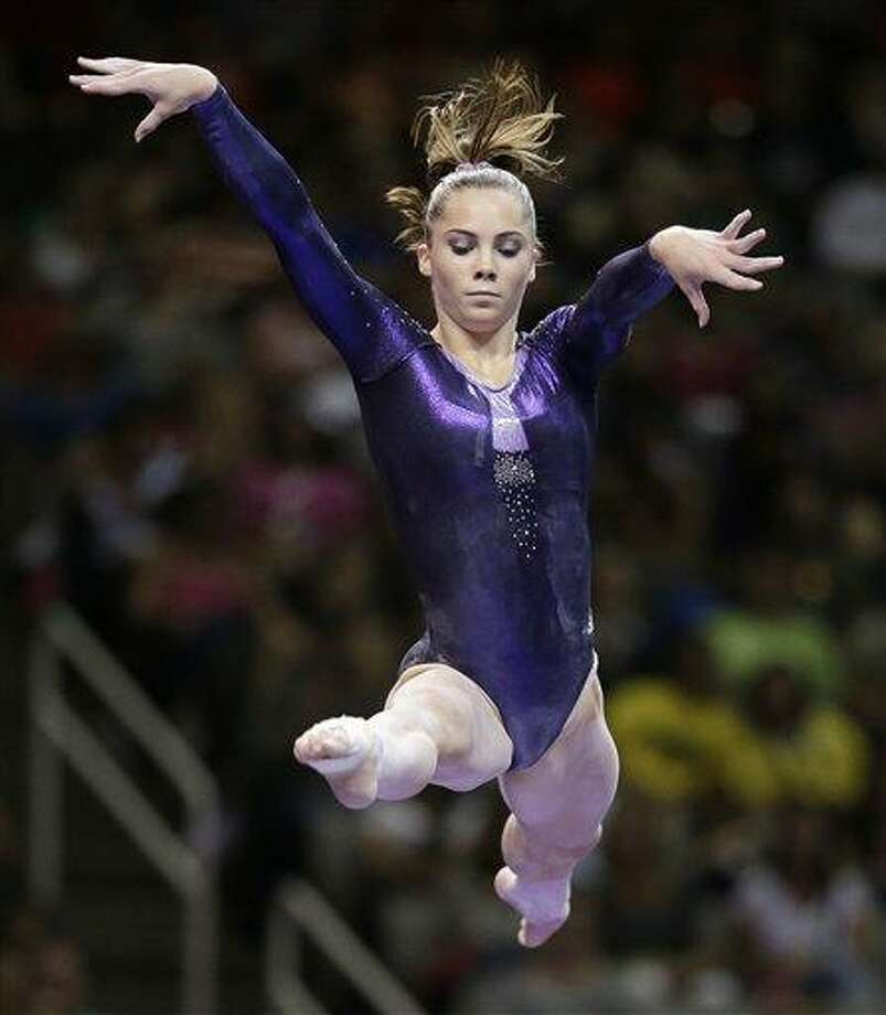 FILE - In this June 29, 2012, file photo, McKayla Maroney performs on the balance beam during the preliminary round of the women's Olympic gymnastics trials, in San Jose, Calif.(AP Photo/Jae C. Hong. File) Photo: AP / AP