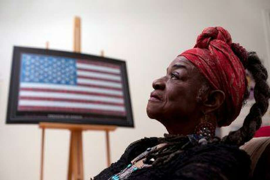 In an exhibit of her works, artist Faith Ringgold challenges America to see its true colors. (Photo for The Washington Post by Melanie Burford)