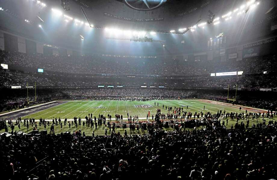 The lights go out in the Superdome during a power outage in the second half of Super Bowl XLVII. Photo: Gerald Herbert — The Associated Press  / AP