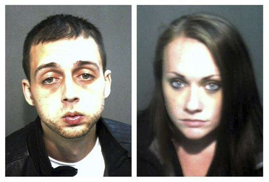 These Wednesday, Nov. 28, 2012 booking photos released by the Orange County Corrections Department show Roland Dow, left, and Jessica Linscott, of Plaistow, N.H., who were arrested Wednesday evening at Universal Studios in Orlando, Fla.  Dow, 27, and Linscott, 23, who authorities said spent two weeks on the run, were wanted in connection with injuries to Linscott's son, including burns and significant head injuries.  (AP Photo/Orange County, Fla., Corrections Department) Photo: AP / Orange County Corrections Department