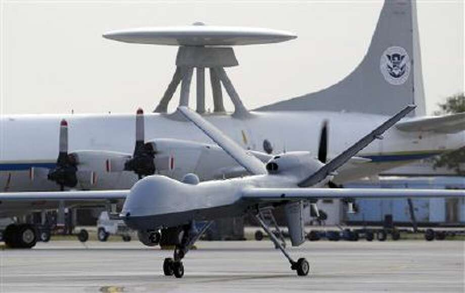 A Predator B drone taxis. Photo: AP / AP