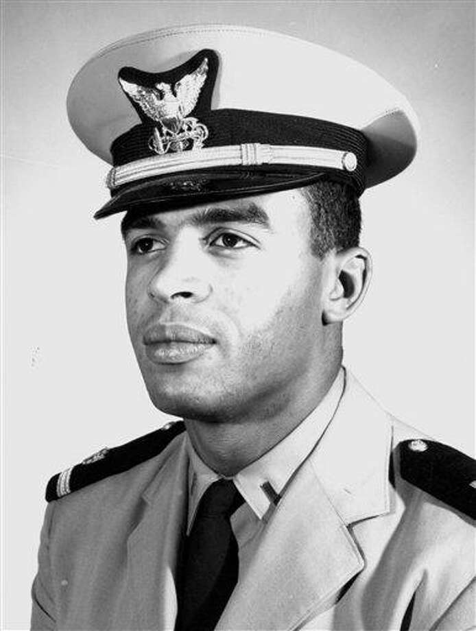 This 1966 black and white photo provided by the U.S. Coast Guard Academy in New London, Conn., shows Merle Smith, the first African-American graduate of the academy, during his senior year. The service academy, which is honoring Smith with a pioneer award in New London Sunday, April 1, 2012, has been facing pressure from Congress to boost enrollment of minorities, particularly African-Americans, who have accounted for roughly 5 percent of incoming cadets in recent years.  (AP Photo/U.S. Coast Guard Academy) Photo: AP / U.S. Coast Guard Academy