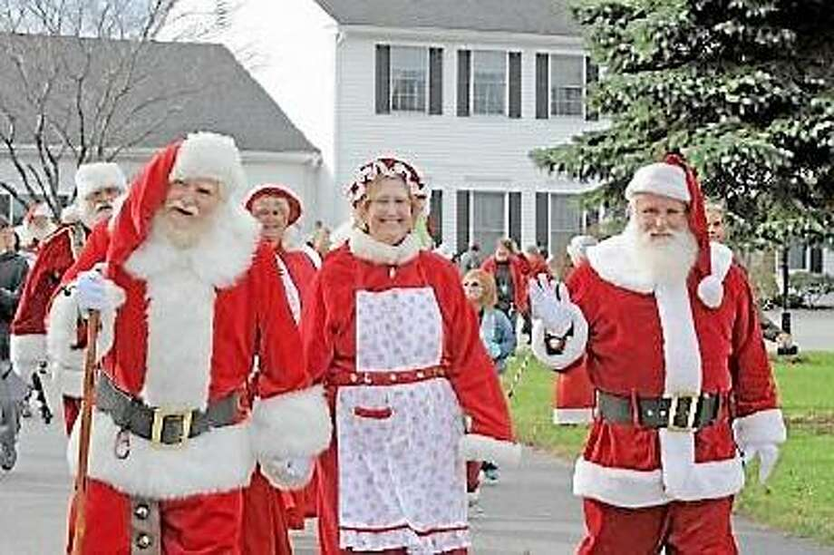 Santas and Mrs. Clauses gather for training and practice with the Connecticut Society of Santas. Laurie Gaboardi/Journal Register News Service