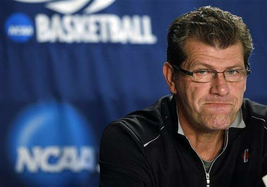 Connecticut head coach Geno Auriemma at a NCAA college basketball news conference in Kingston, R.I., Monday. Associated Press Photo: AP / AP