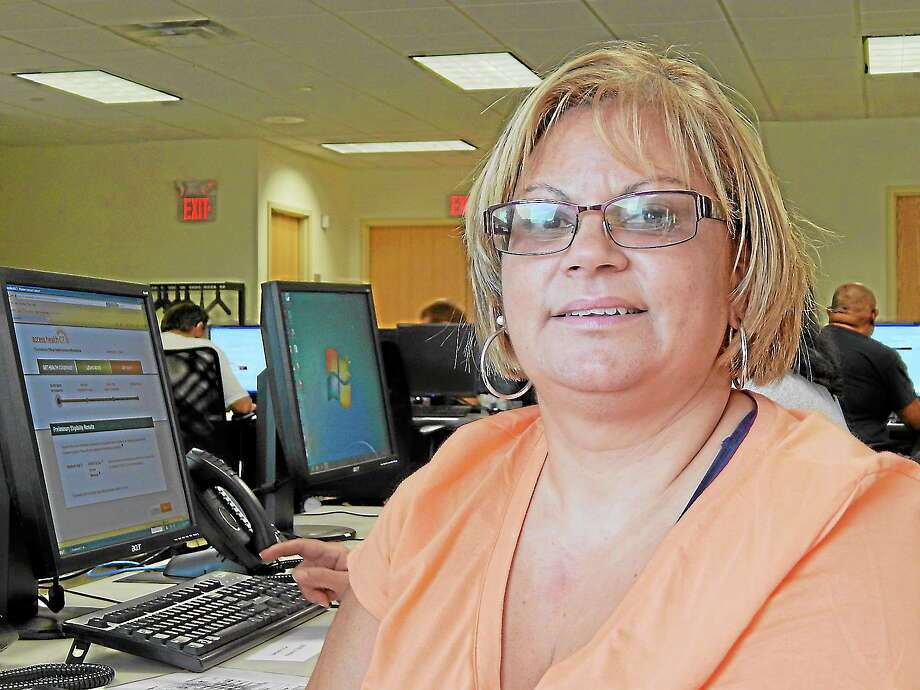 Elly Banos on Oct. 1, when she first tried to sign up for insurance as part of the health law known as Obamacare. Photo: Journal Register Co.