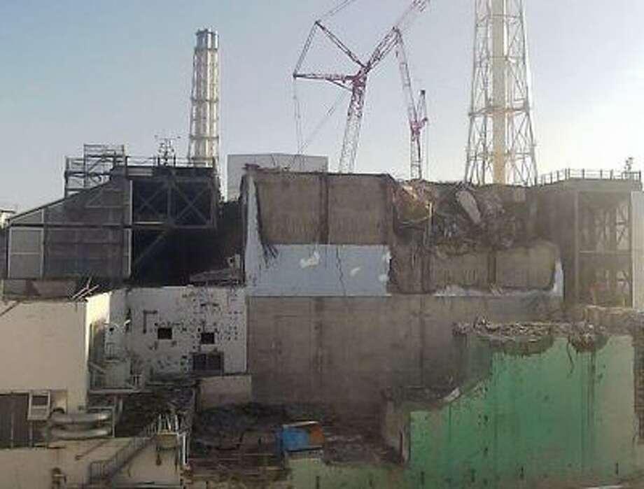 The damaged Fukushima Daiichi nuclear plant. Photo: AP / Tokyo Electric Power Co.