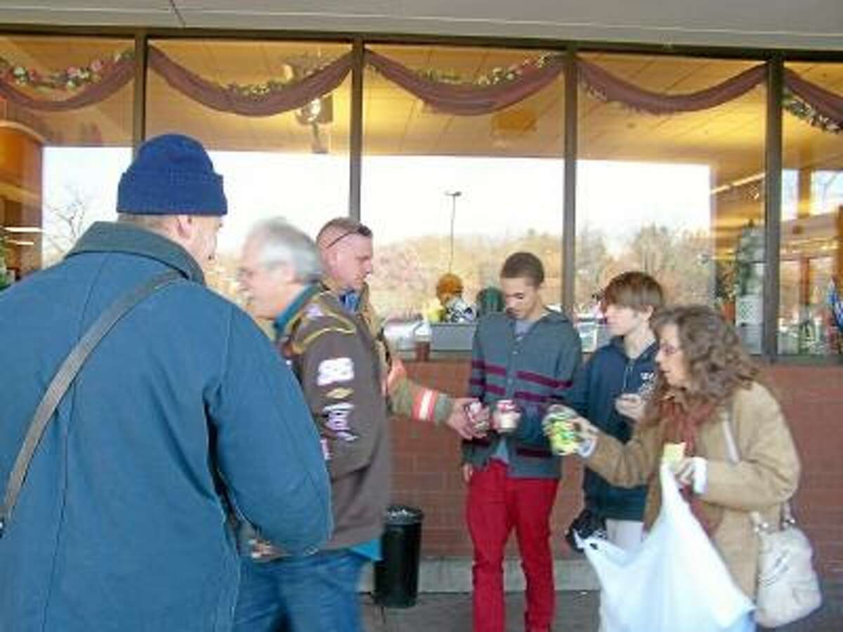 Members of the South Fire District collected food for Amazing Grace Food Pantry last Saturday in Middletown.