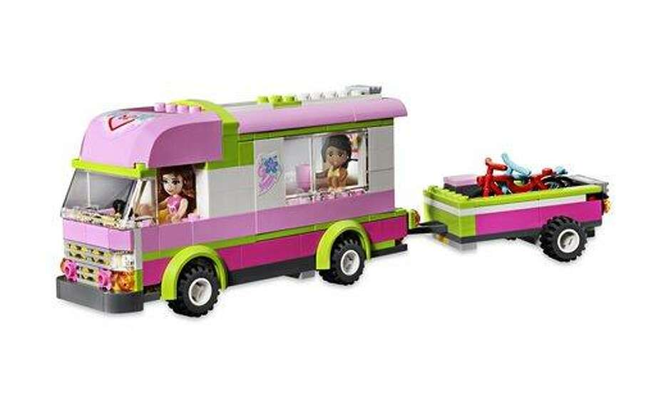 This product image released by Good Housekeeping shows a Lego Friends Adventure Camper. The toy has made it onto the Good Housekeeping's annual Best Toys list for 2012. Engineers reviewed hundreds of toys for safety and educational merits. But the true test comes from 140 kids, ages 3 to 13, who play with the top 135 new toys at the magazine's product-testing laboratory in New York. (AP Photo/Good Housekeeping) Photo: AP / Good Housekeeping