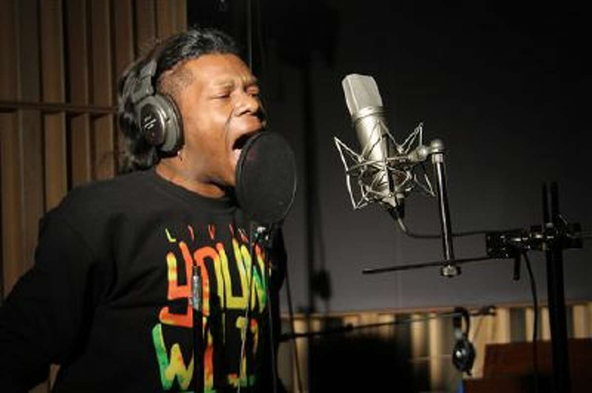 This undated photo released by FUSE shows New Orleans hip-hop artist Big Freedia in a recording session.