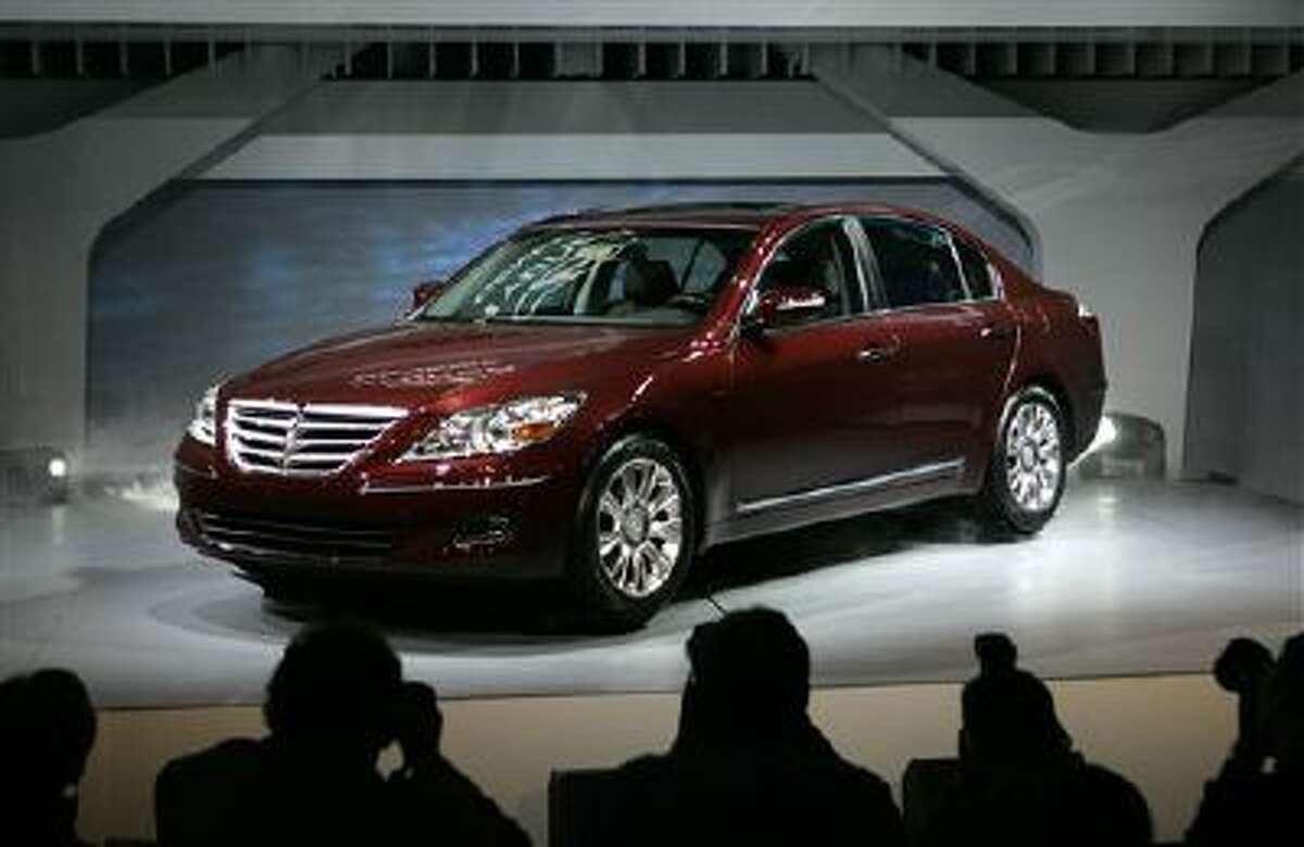 This Jan. 13, 2008, file photo, shows the 2009 Hyundai Genesis at the North American International Auto Show in Detroit.
