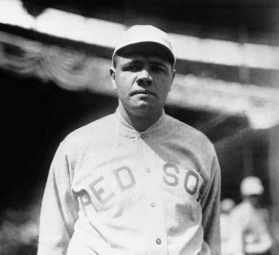 Babe Ruth is shown in a Boston Red Sox uniform in 1919. (AP Photo) Photo: ASSOCIATED PRESS / AP1919