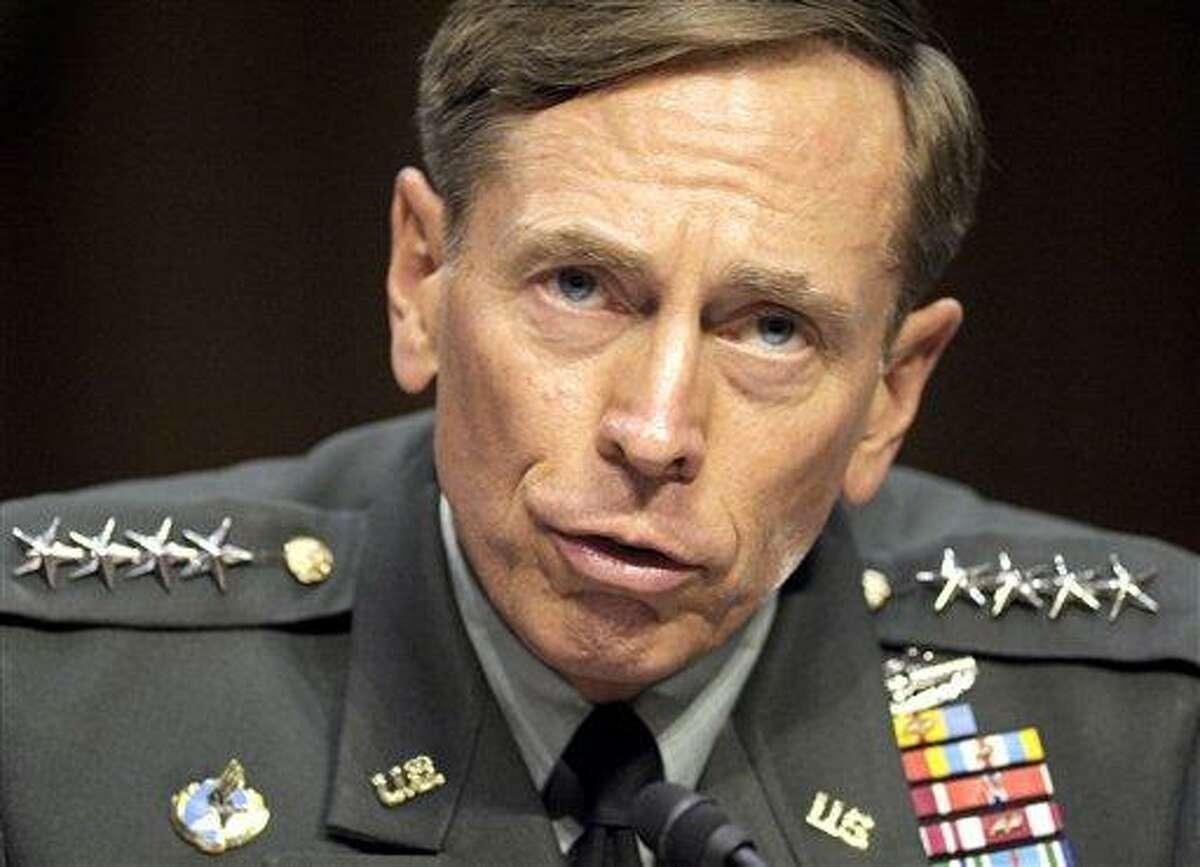 In this June 2011 file photo, then-CIA Director-desigate Gen. David Petraeus testifies on Capitol Hill in Washington. Petraeus has resigned because of an extramarital affair. Associated Press